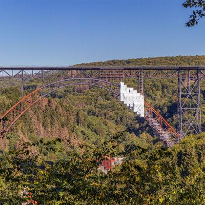 Müngstener Brücke als Panoramabild' - Hintergrundbild