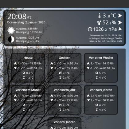 Webinterface erstrahlt in neuem Design' - Hintergrundbild
