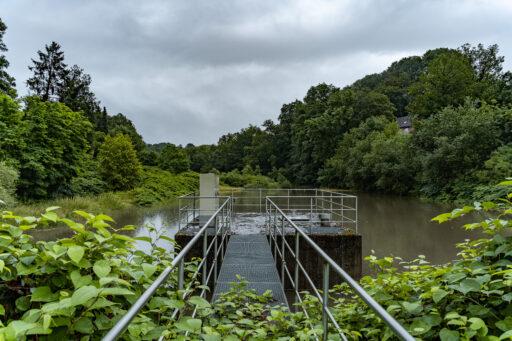 Dauerregen und Hochwasser am Nacker Bach - Vordergrundbild